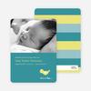 Birdie Baby Announcement - Teal