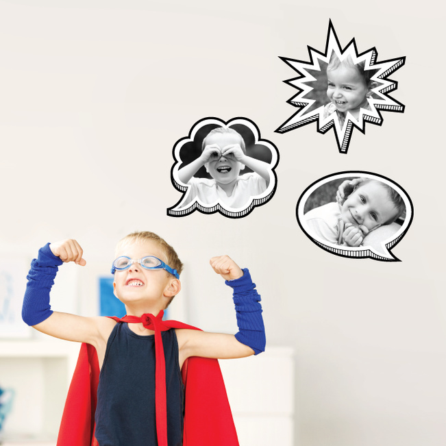 Comic Bubbles – Fun, Wall Stickers - Black