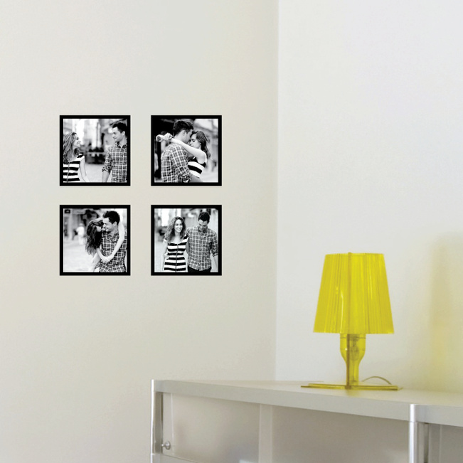Mini Photo Square Wall Decals - Black