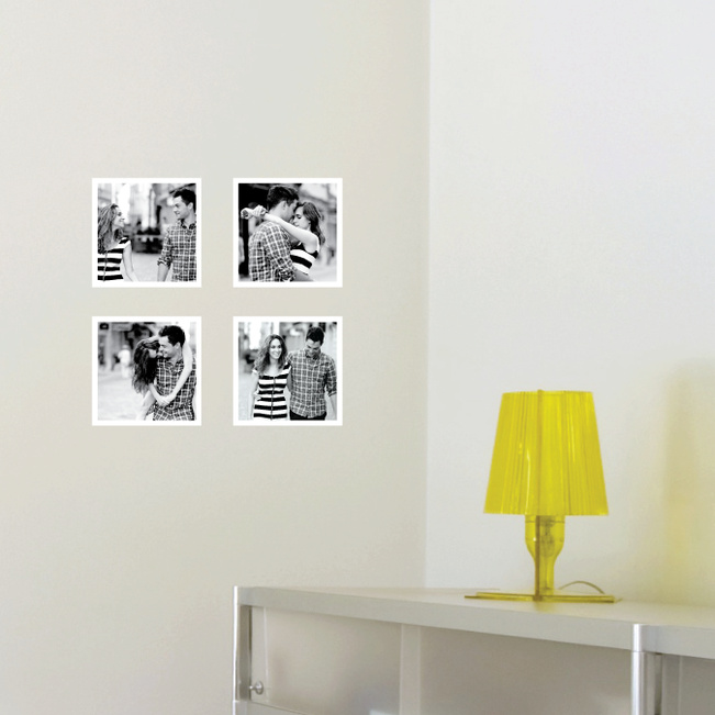 Mini Photo Square Wall Decals - White