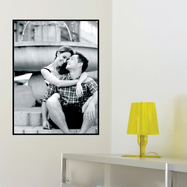 Photo Rectangle Wall Stickers - Black
