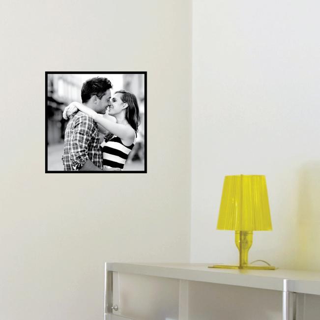 Photo Square Stickers - Black
