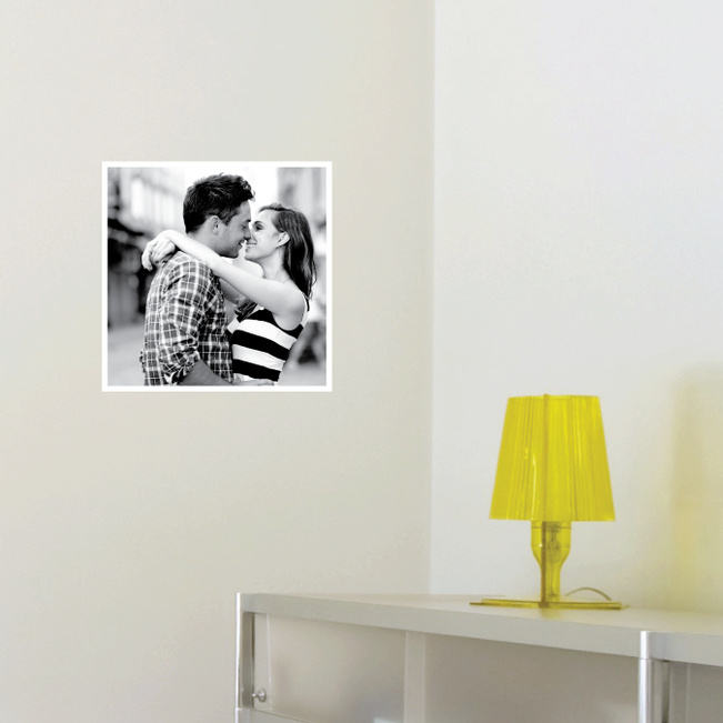 Photo Square Stickers - White