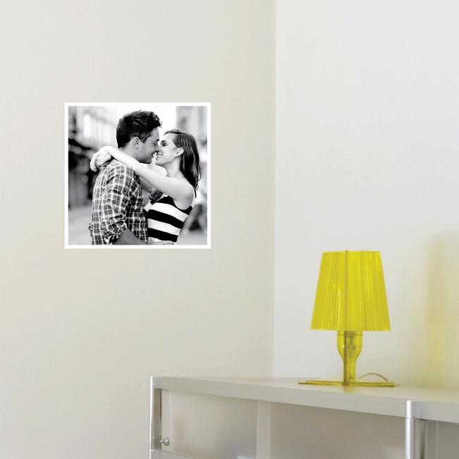 Photo Square Stickers - White