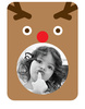 Rudolph Photo Frame Sticker - Printed View