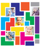 Colorful Blocks Photo Wall Decals - Printed View