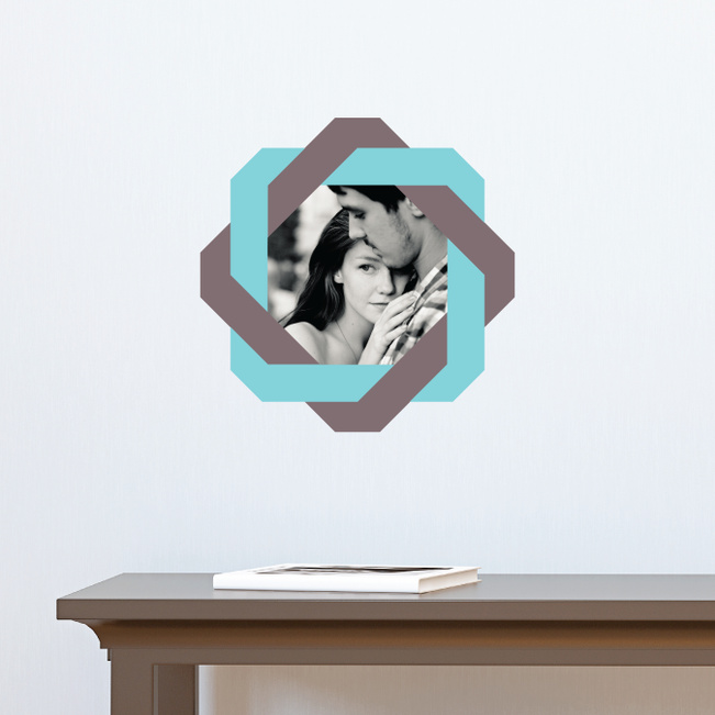 All Twisted Up Lovers Photo Decals - Gray