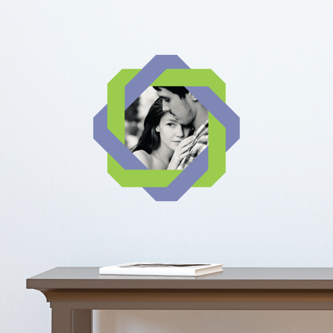All Twisted Up Lovers Photo Decals - Purple