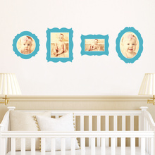Antique Photo Frame Decals - Blue