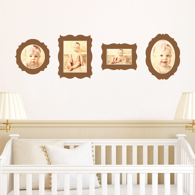 Antique Photo Frame Wall Decals - Brown