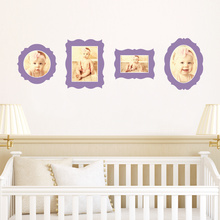 Antique Photo Frame Decals - Purple