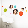 Bubble Up, Circle Photo Wall Decals - Red