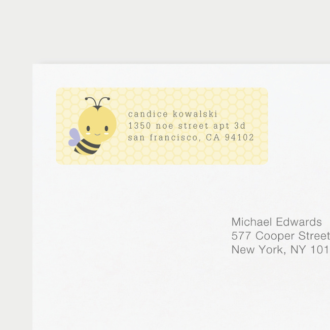 Buzzworthy Bee Address Labels - Purple