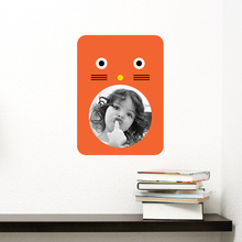 Cat Photo Frame Sticker - Orange
