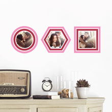 Color Stripe Frames - Pink