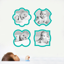 Fun, Modern Picture Frame Wall Decals - Blue