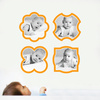 Fun, Modern Picture Frame Wall Decals - Orange