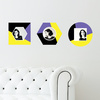 Geometric Color Blocks - Wall Decal View