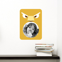 Lion Photo Frame Sticker - Yellow