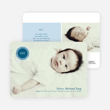 Monogram Baby Announcement - Cadet Blue