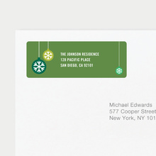 Ornaments Matching Address Labels - Green