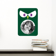 Owl Photo Frame Sticker - Green