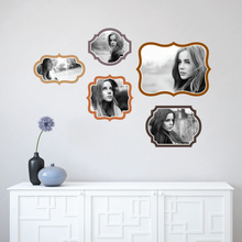 Retro Bracket Photo Frames - Brown