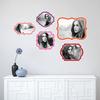 Retro Bracket Frames - Wall Decal View