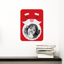 Santa Photo Frame Sticker - Red