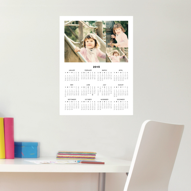 3 Photo Wall Decal Calendars - Black