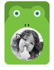Frog Photo Frame Sticker - Printed View