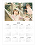 3 Photo Calendar Decals - Printed View