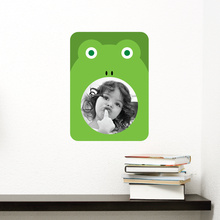 Frog Photo Frame Sticker - Green