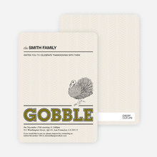 Gobble Gobble Thanksgiving Cards - Khaki