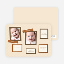 Twin Birth Announcements in Photo Frames - Vanilla