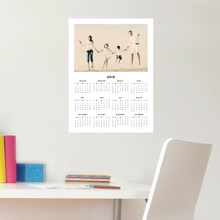 Wall Calendar Stickers that are Removable and Repositionable - Black