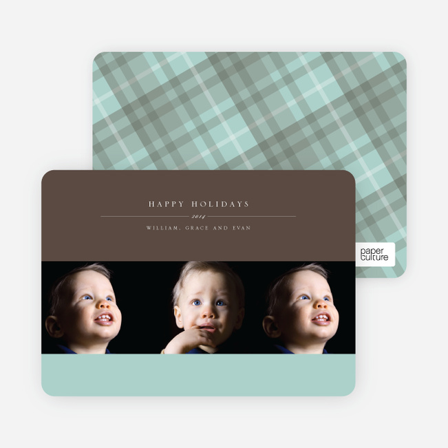 3 Photo Cards: Photographer Studio Triple - Mint