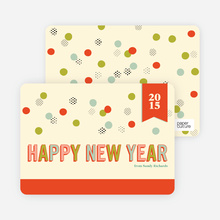 Balloon & Party Ball New Year's Cards - Tangerine