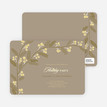 Berry Invite Holiday Invitations - Mushroom