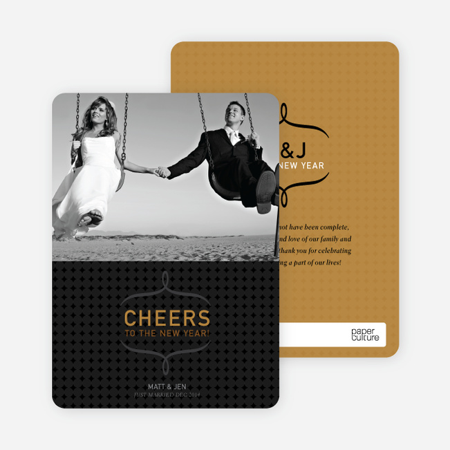 Cheers to the New Year Photo Card - Mustard