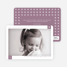 Classic Snowflake Holiday Photo Cards - Wisteria