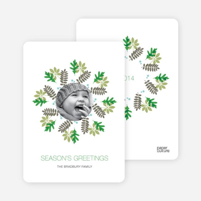 Christmas Cards: Mistletoe and Holly Wreath - Shamrock