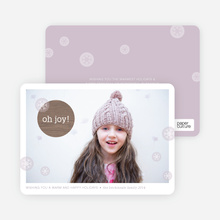 Oh Joy Holiday Cards - Purple