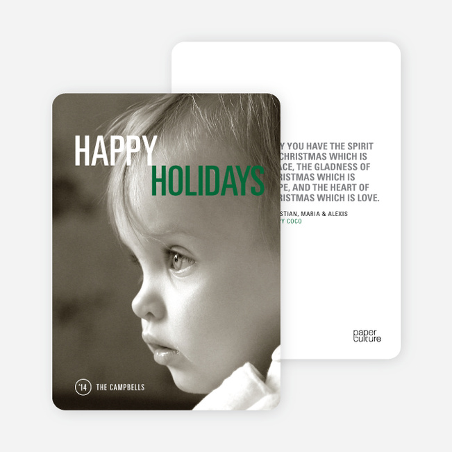 Christmas Cards: Simply Photo - Green