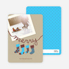 Christmas Cards: Stockings - Baby Blue