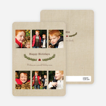 Holiday Laurel Holiday Photo Cards - Terra Cotta