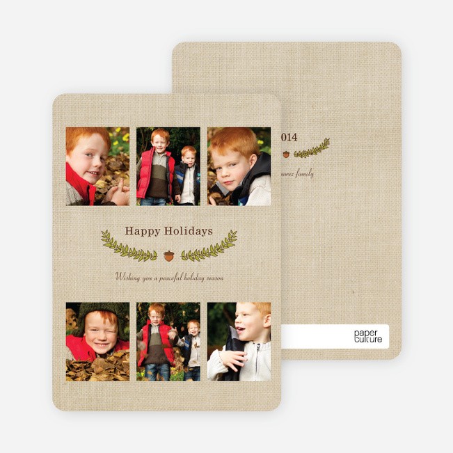 Christmas Cards with Holiday Laurel - Cinnamon