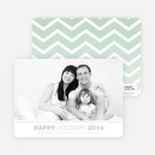 Chevron Winter Stripes - Green