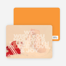Christmas & New Year's Cards - Orange