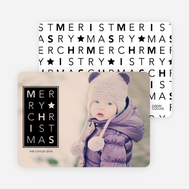 Chrstimas Cards: Merry Letters - Black